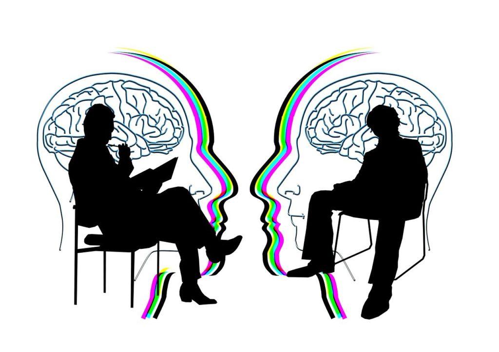 שיחה בין שני אנשים
